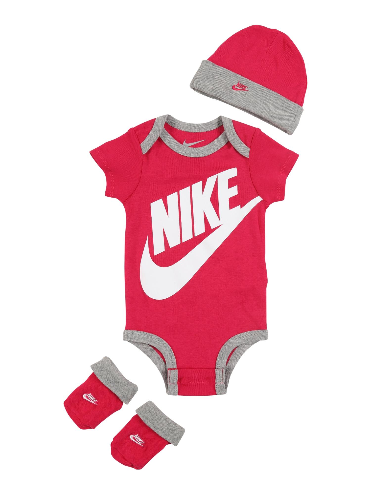 Nike Sportswear Apatinių komplektas raudona / balta / pilka