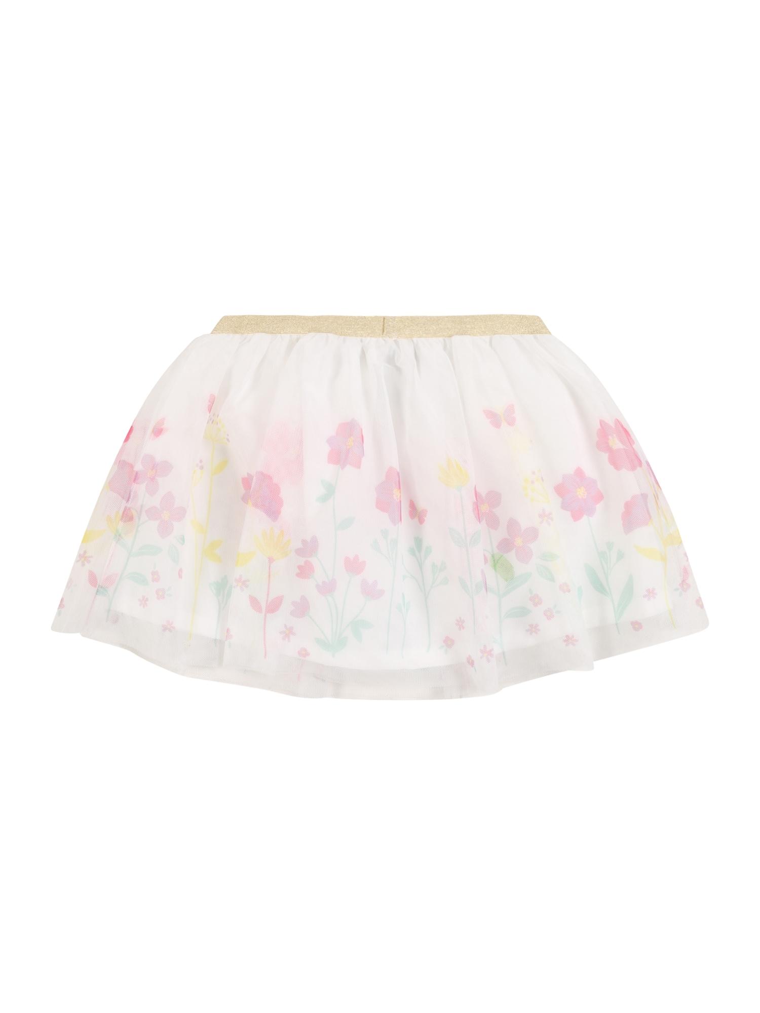 Carter's Sijonas 'Easter Collection S20 white floral tutu' rožių spalva / mišrios spalvos / perlų balta