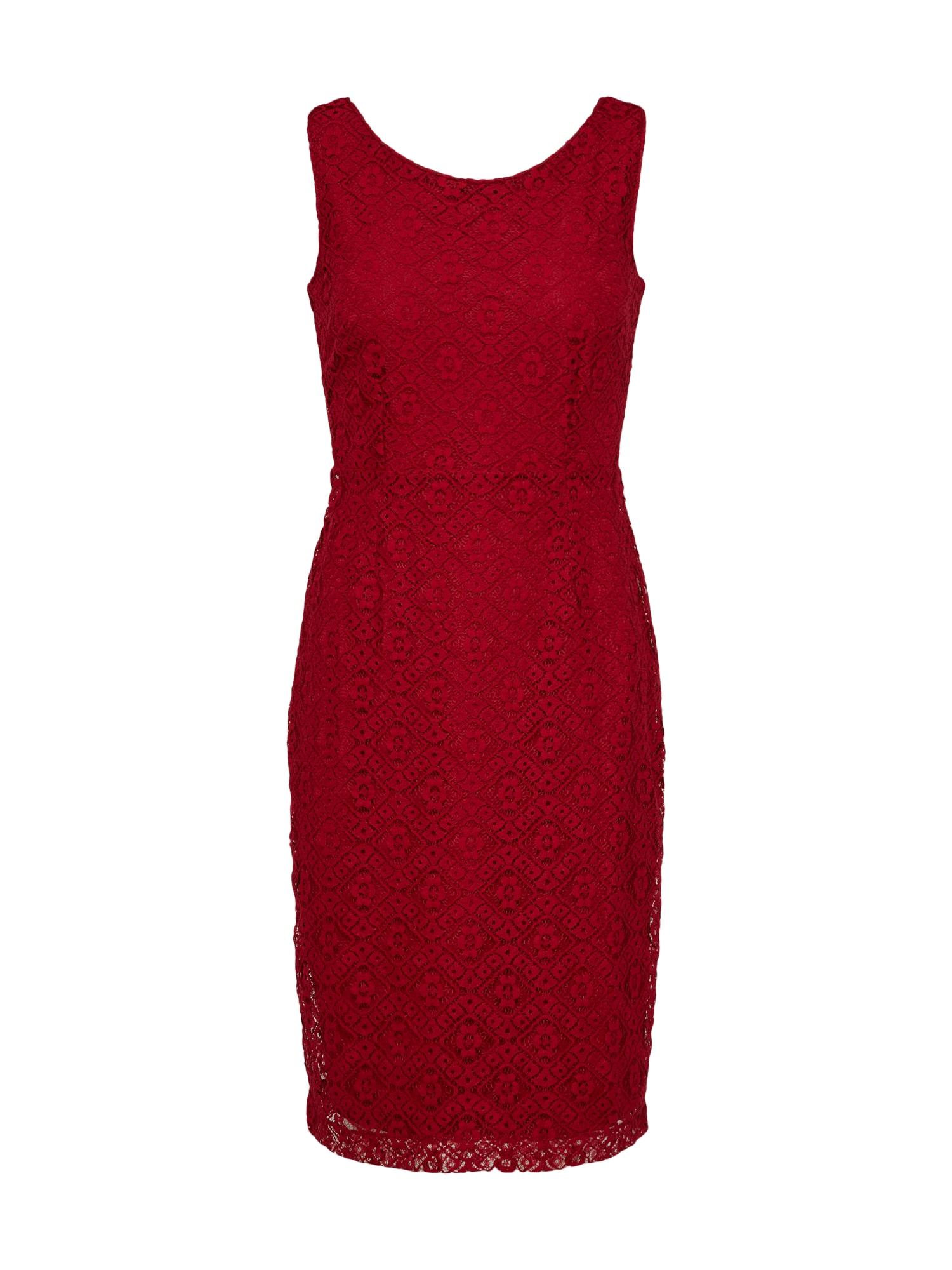 Šaty Gwen Doily Lace červená třešeň King Louie