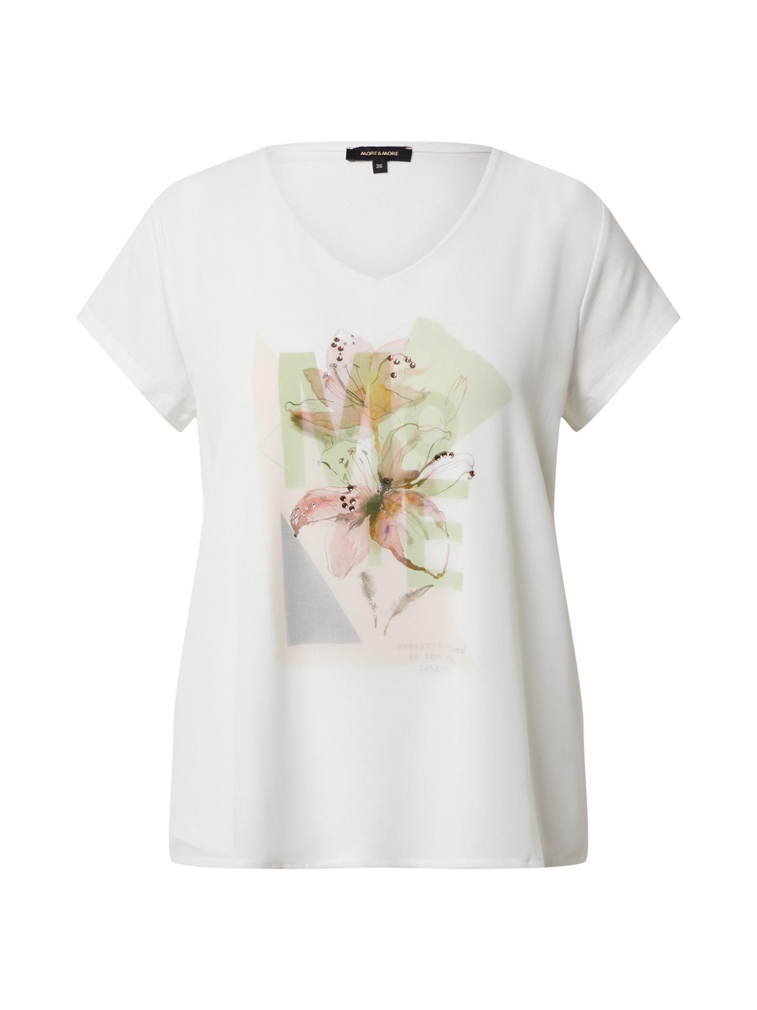 MORE & MORE Tričko  nebielený / biela