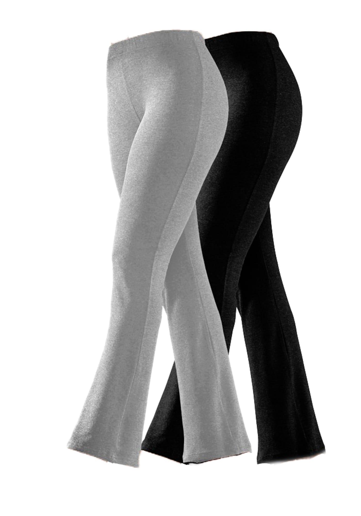 VIVANCE Pižaminės kelnės margai pilka / juoda