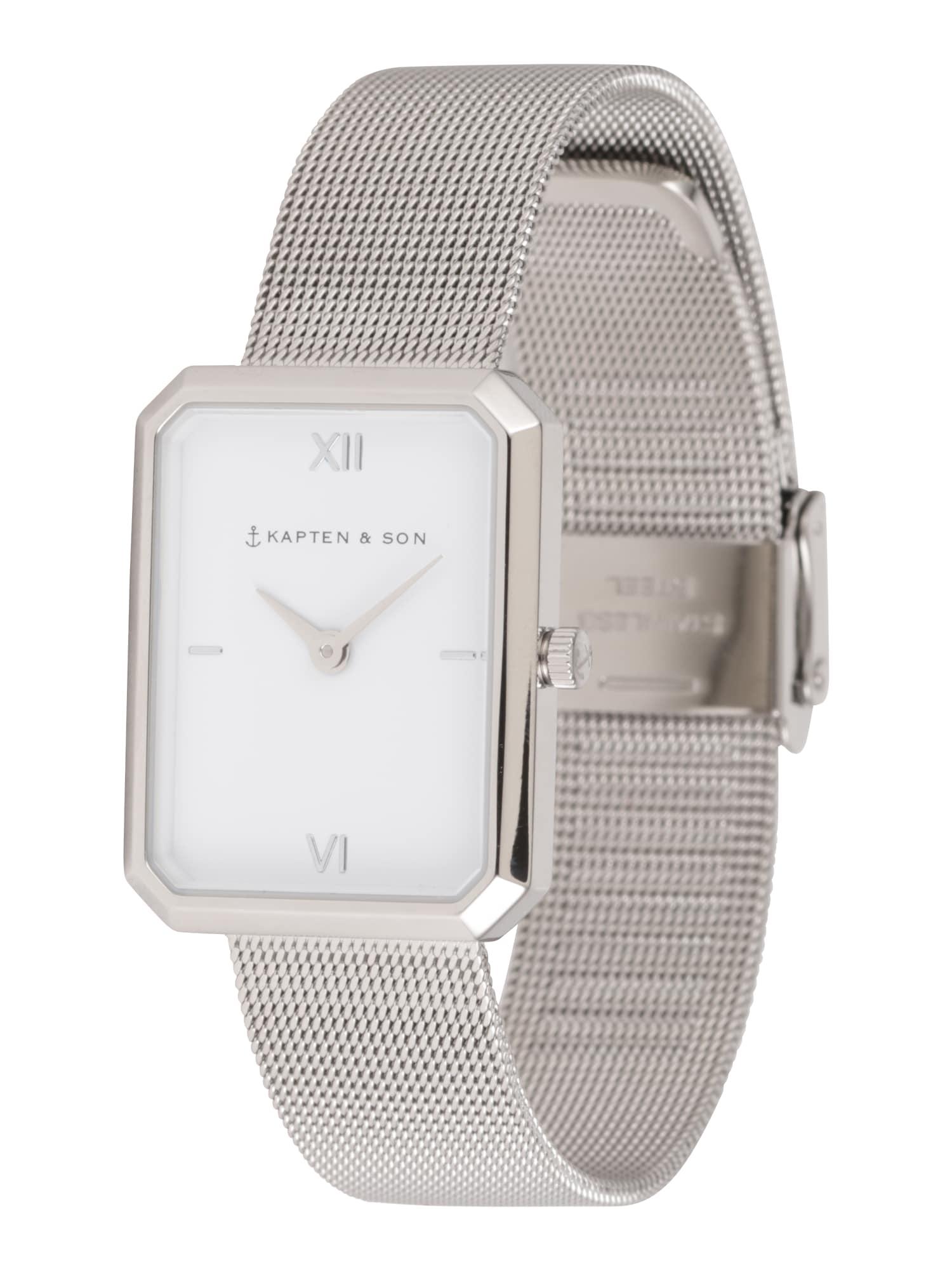 Kapten & Son Analoginis (įprastinio dizaino) laikrodis 'Grace Mesh ' sidabras