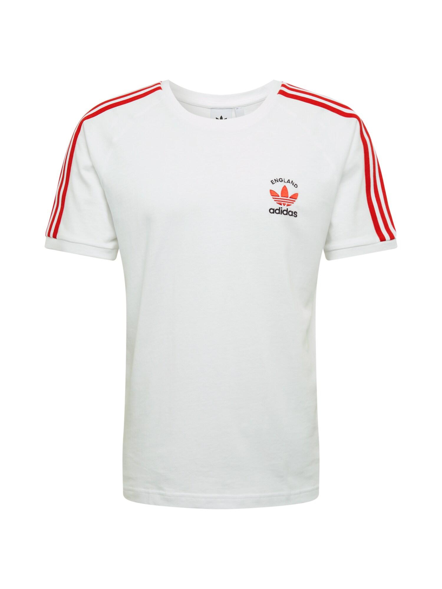 ADIDAS ORIGINALS Tričko '3-S'  červené / biela
