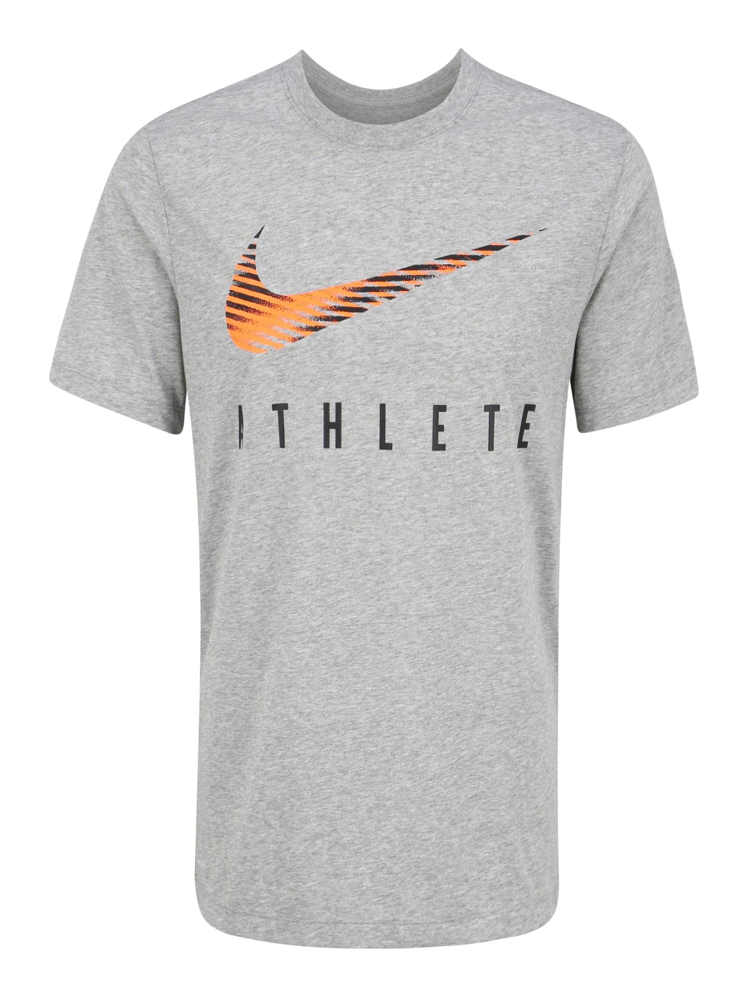 Nike Sportswear Sportiniai marškinėliai 'Dri-FIT' pilka / mišrios spalvos