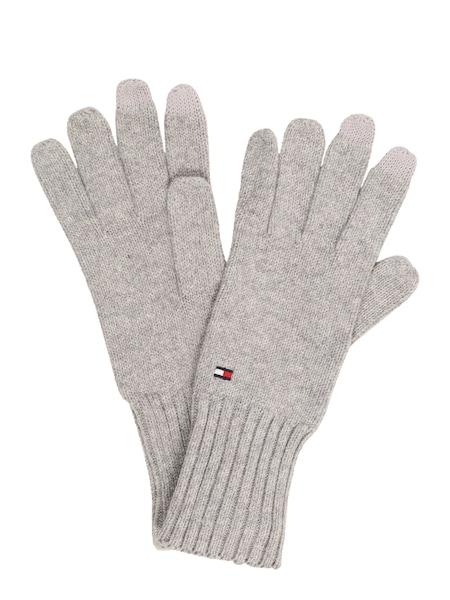 Handschuhe für Frauen - TOMMY HILFIGER Fingerhandschuhe graumeliert  - Onlineshop ABOUT YOU