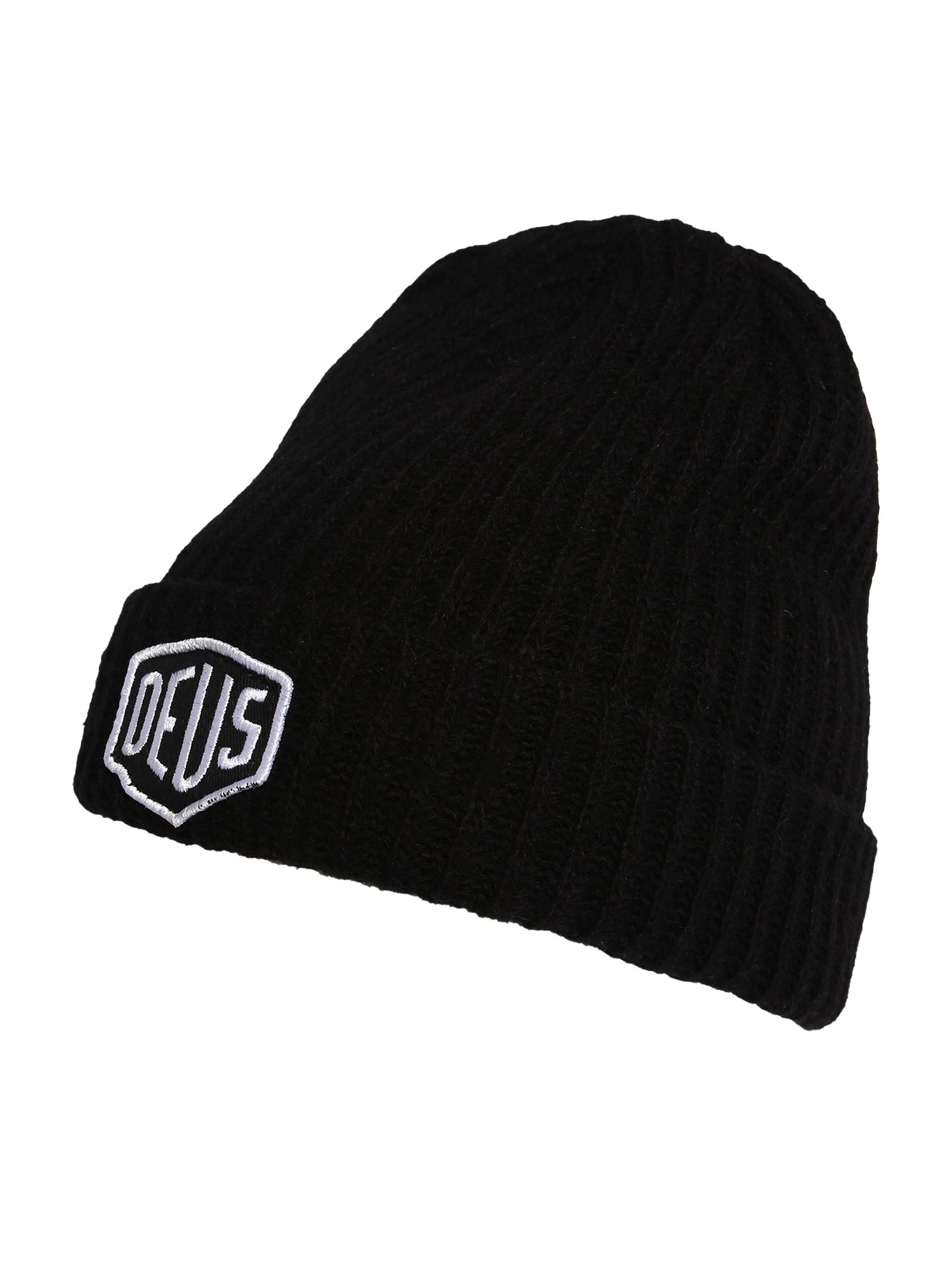 DEUS EX MACHINA Megzta kepurė juoda