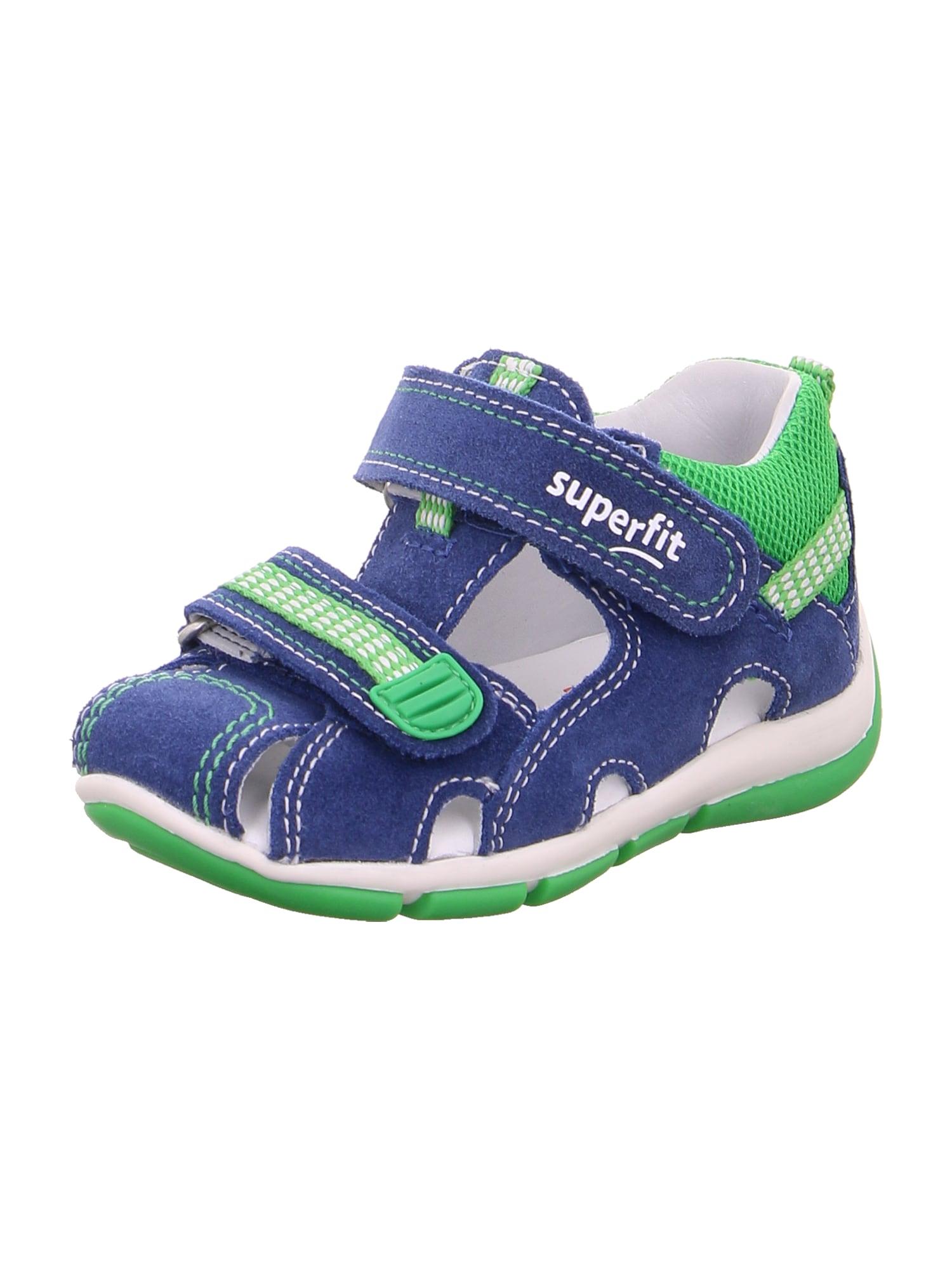 SUPERFIT Atviri batai 'FREDDY' žalia / mėlyna
