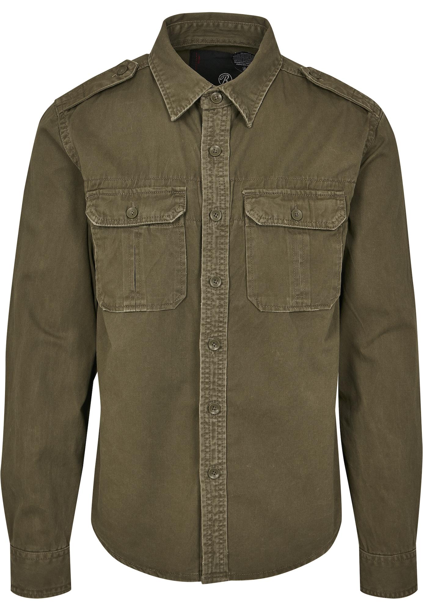 Brandit Marškiniai alyvuogių spalva