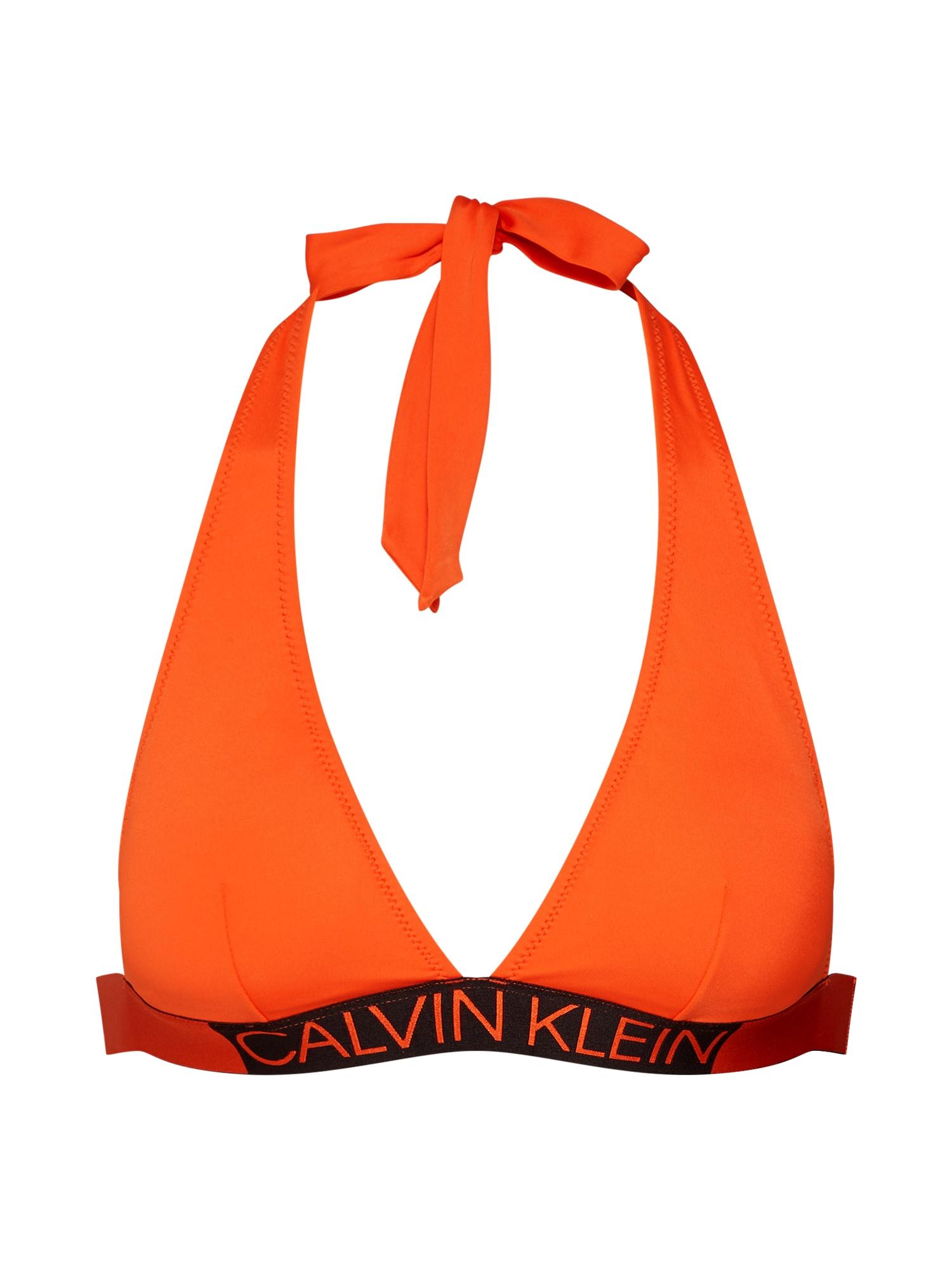 Horní díl plavek oranžově červená Calvin Klein Swimwear