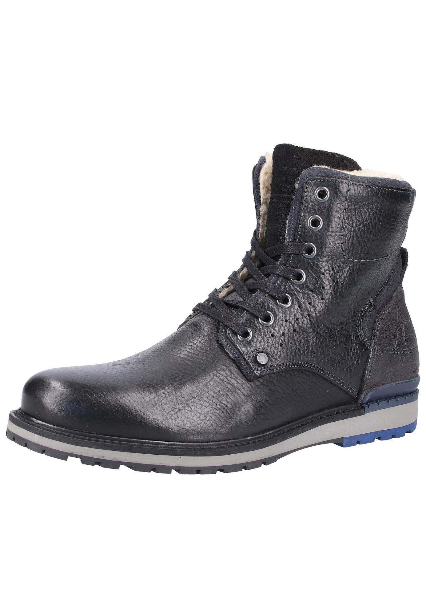 BULLBOXER Auliniai batai su raišteliais pilka / juoda