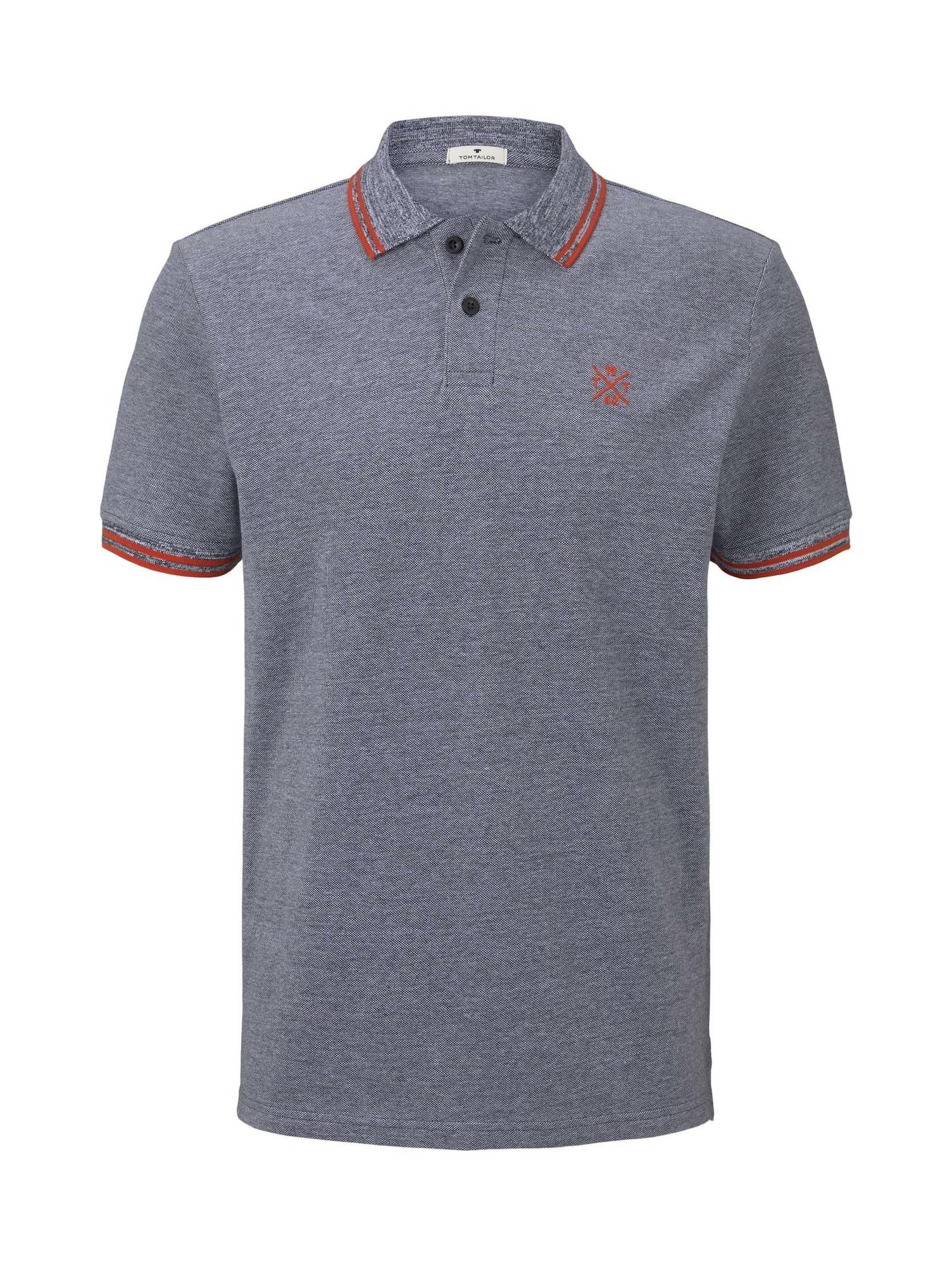 TOM TAILOR Tričko  červené / modrosivá