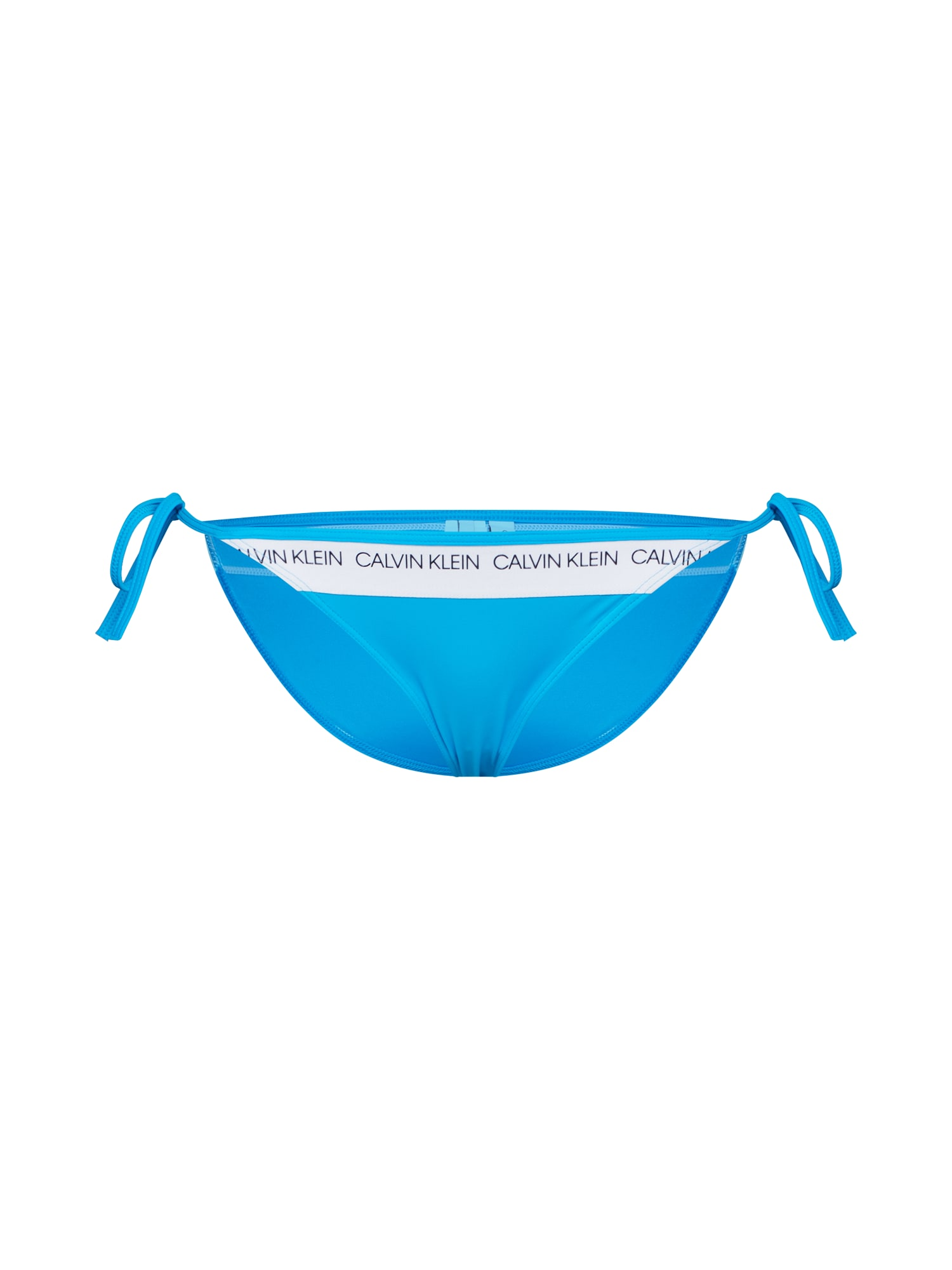 Spodní díl plavek STRING SIDE TIE modrá bílá Calvin Klein Swimwear