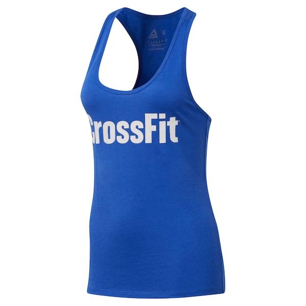 Sportmode für Frauen - REEBOK Sporttop blau weiß  - Onlineshop ABOUT YOU