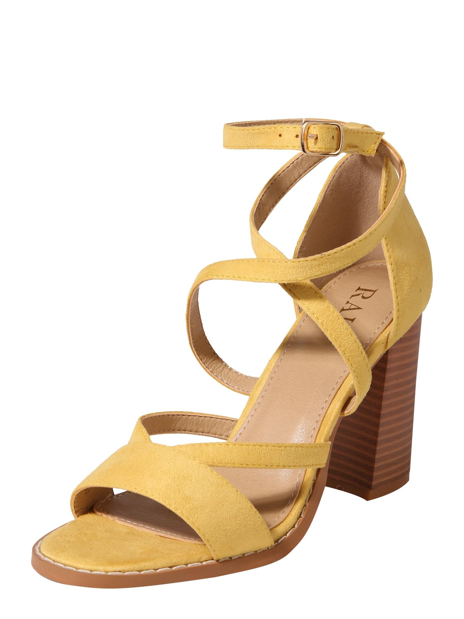 Páskové sandály ESTRELLE-1 světle žlutá Raid
