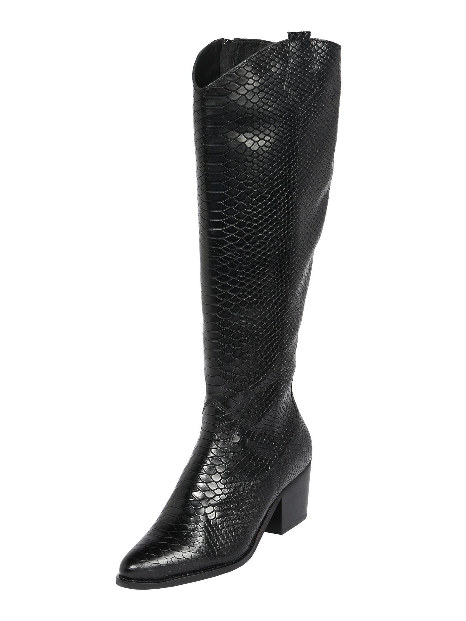 PS Poelman Kaubojiški batai juoda