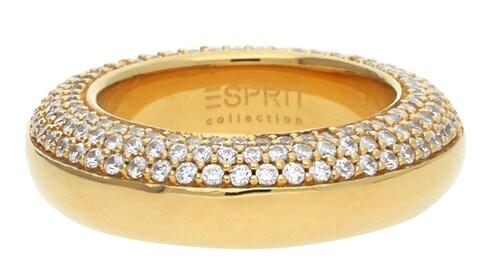 Ringe für Frauen - ESPRIT Fingerring Perimagna Glance mit Zirkonia Steinbesatz ELRG91615C gold transparent  - Onlineshop ABOUT YOU
