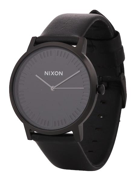 Uhren für Frauen - Nixon Armbanduhr 'Porter Leather' (Gehäusedurchmesser 40mm) schwarz  - Onlineshop ABOUT YOU