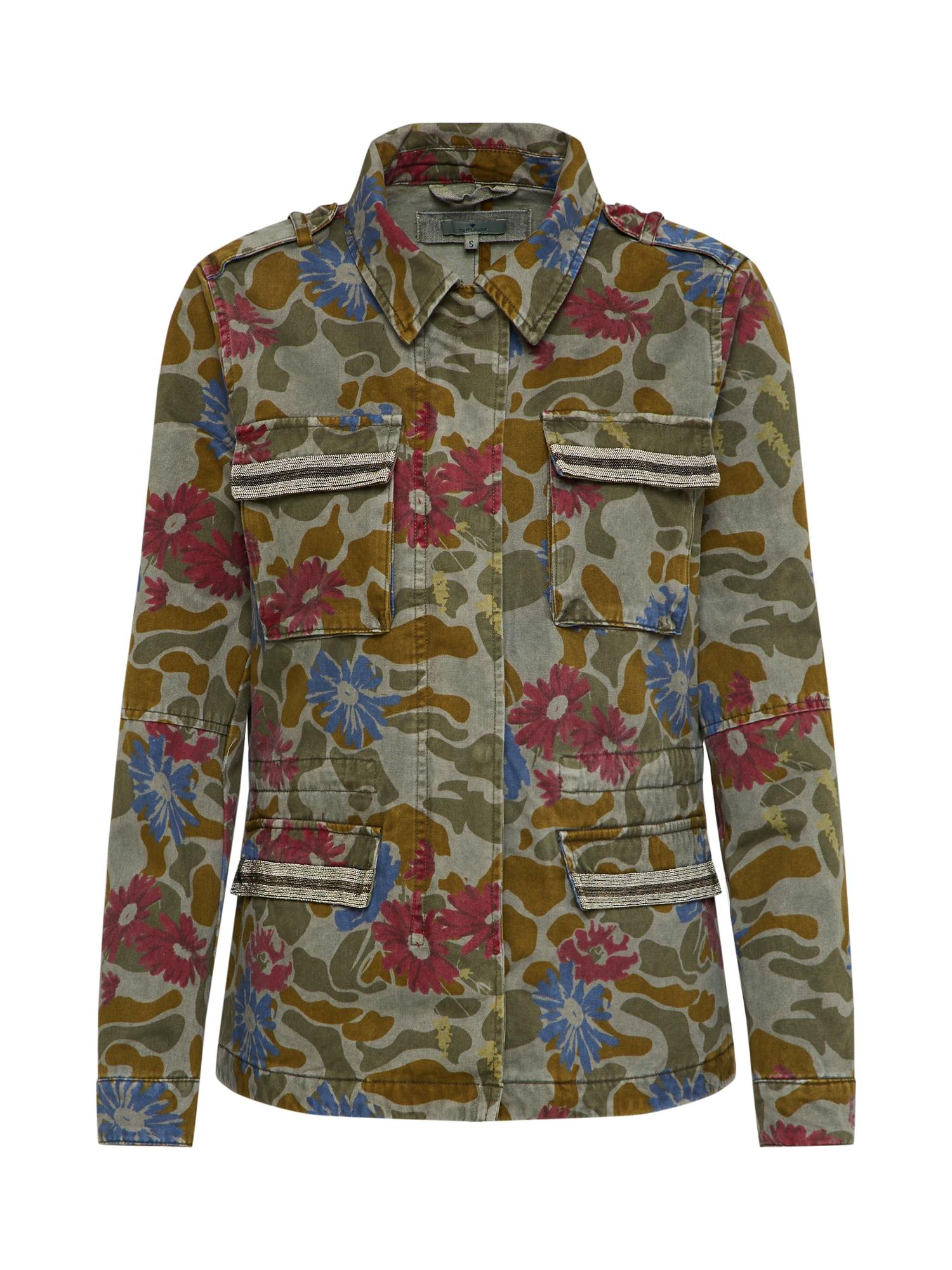 Přechodná bunda khaki mix barev TOM TAILOR