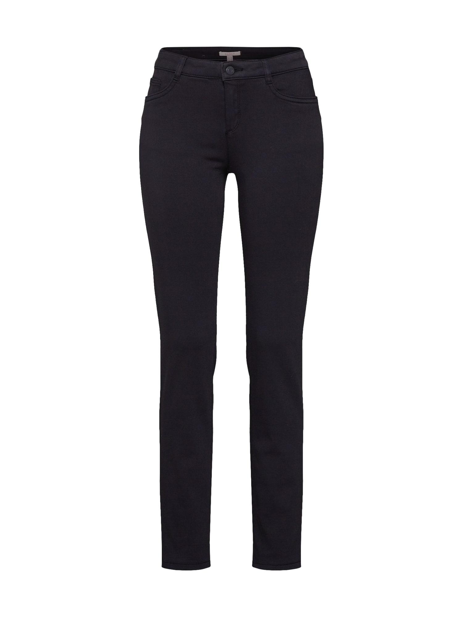 ESPRIT Chino stiliaus kelnės 'MR Slim' juoda