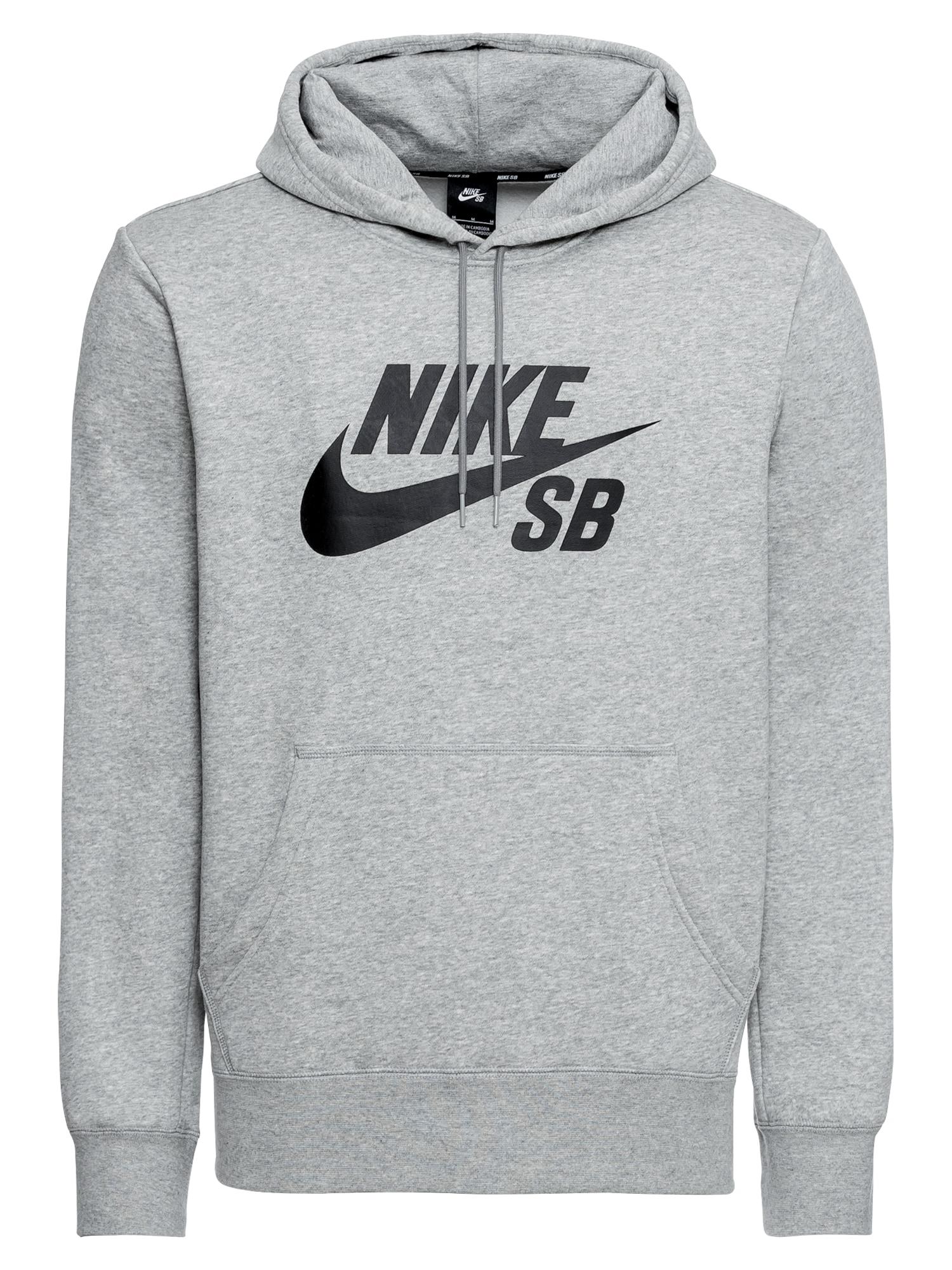 Mikina šedý melír černá Nike SB