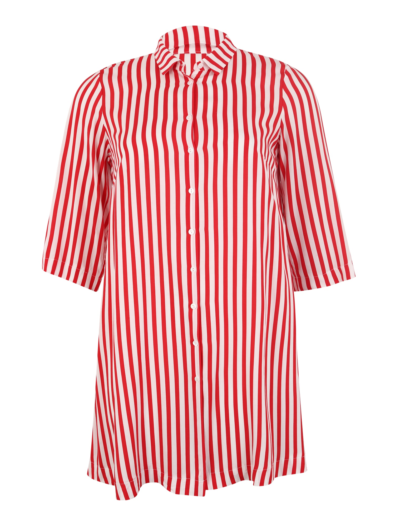 Košilové šaty LUNA červená bílá ONLY Carmakoma
