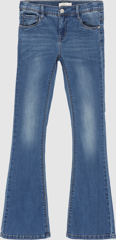 Name It Kids Polly mittelblaue Bootcut-Jeans