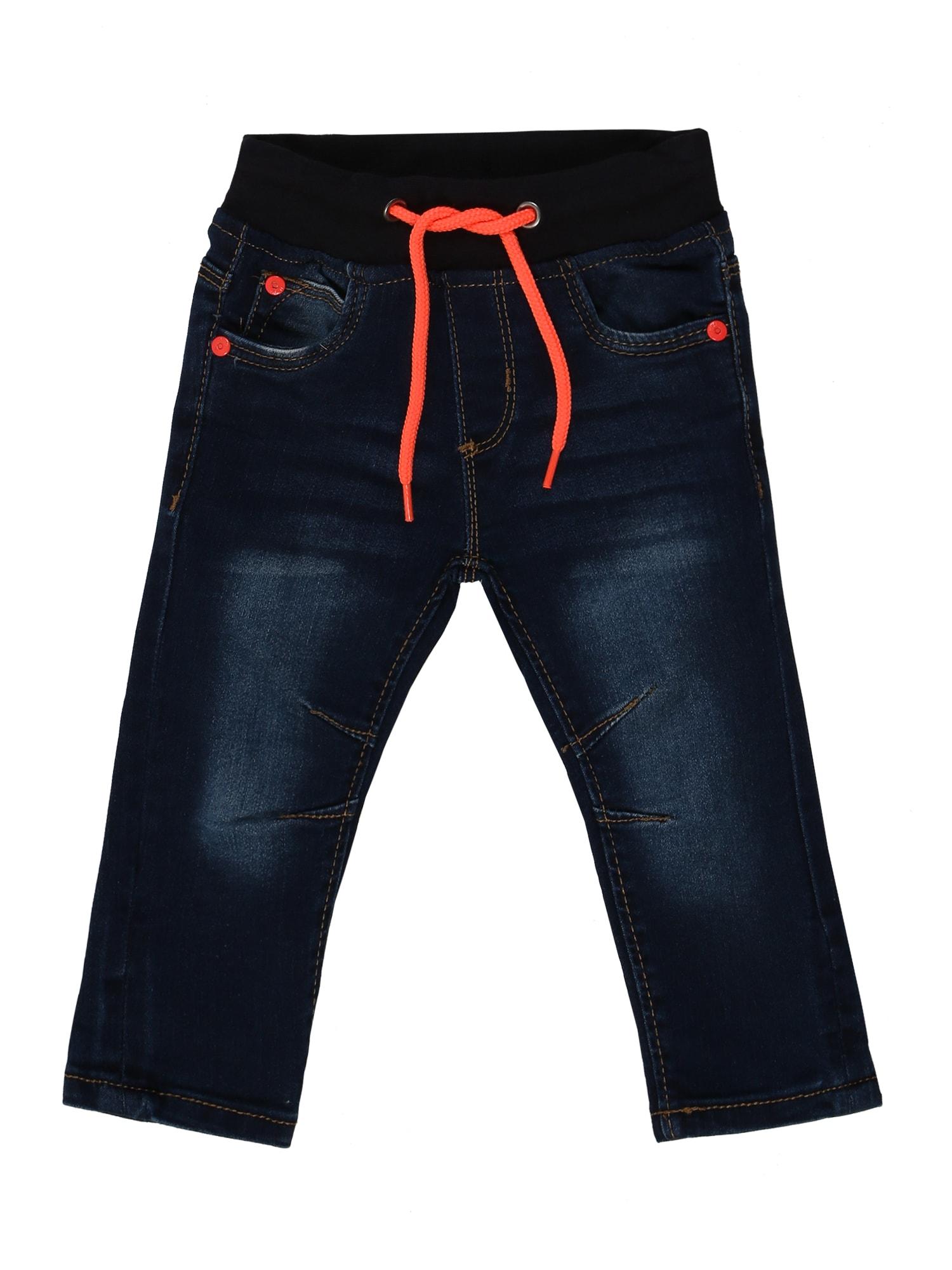 BLUE SEVEN Džinsai tamsiai mėlyna / neoninė oranžinė