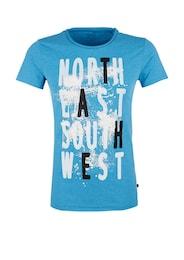 Q/S Designed By Herren T-Shirt mit 3D-Splash-Print blau | 04056523746747