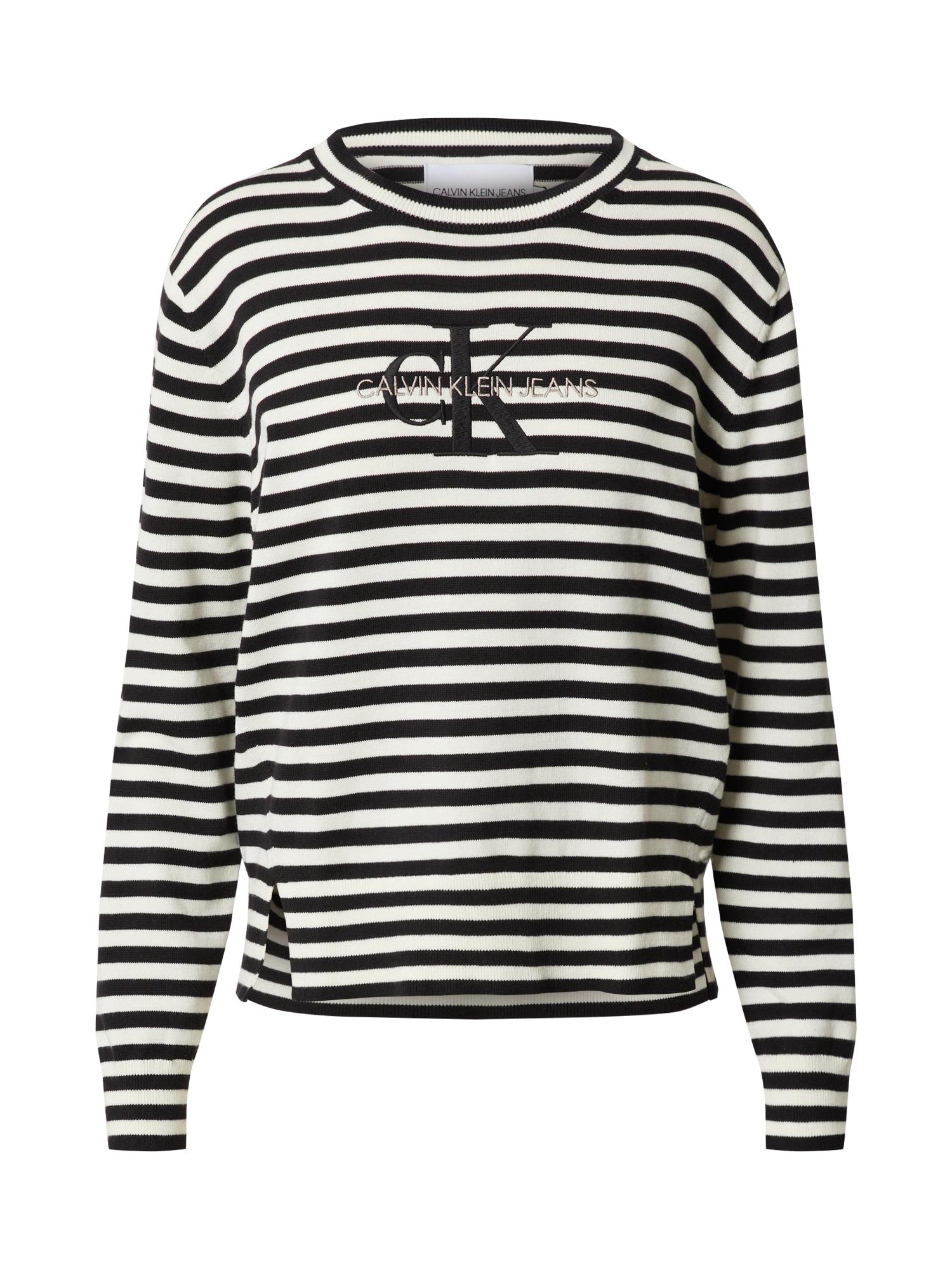 Calvin Klein Jeans Megztinis balta / juoda