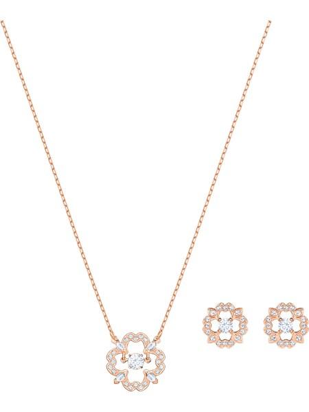 Schmucksets für Frauen - Swarovski Schmuckset 'Sparkling 5408439' gold silber  - Onlineshop ABOUT YOU