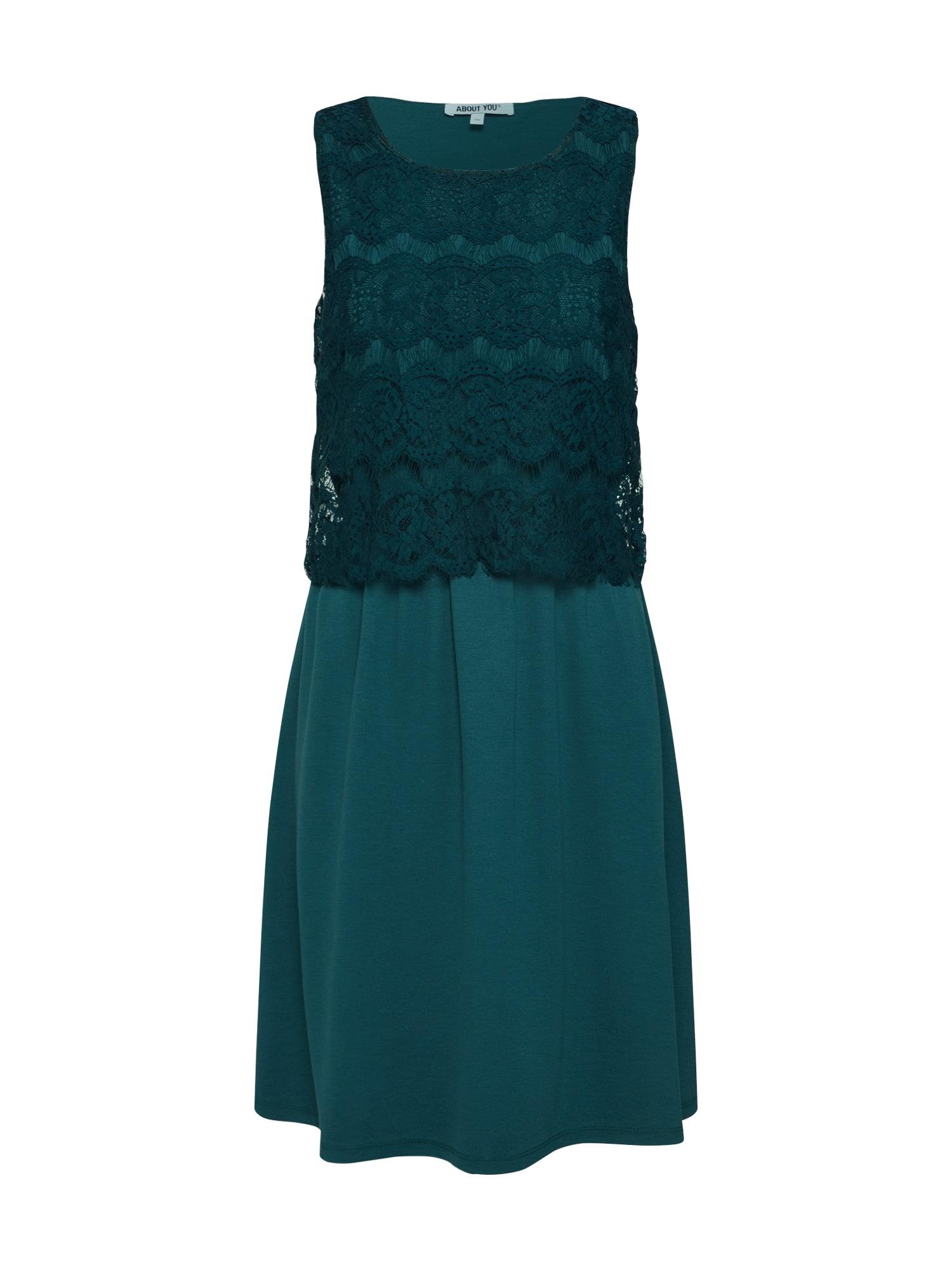 ABOUT YOU Kokteilinė suknelė 'Nona' smaragdinė spalva