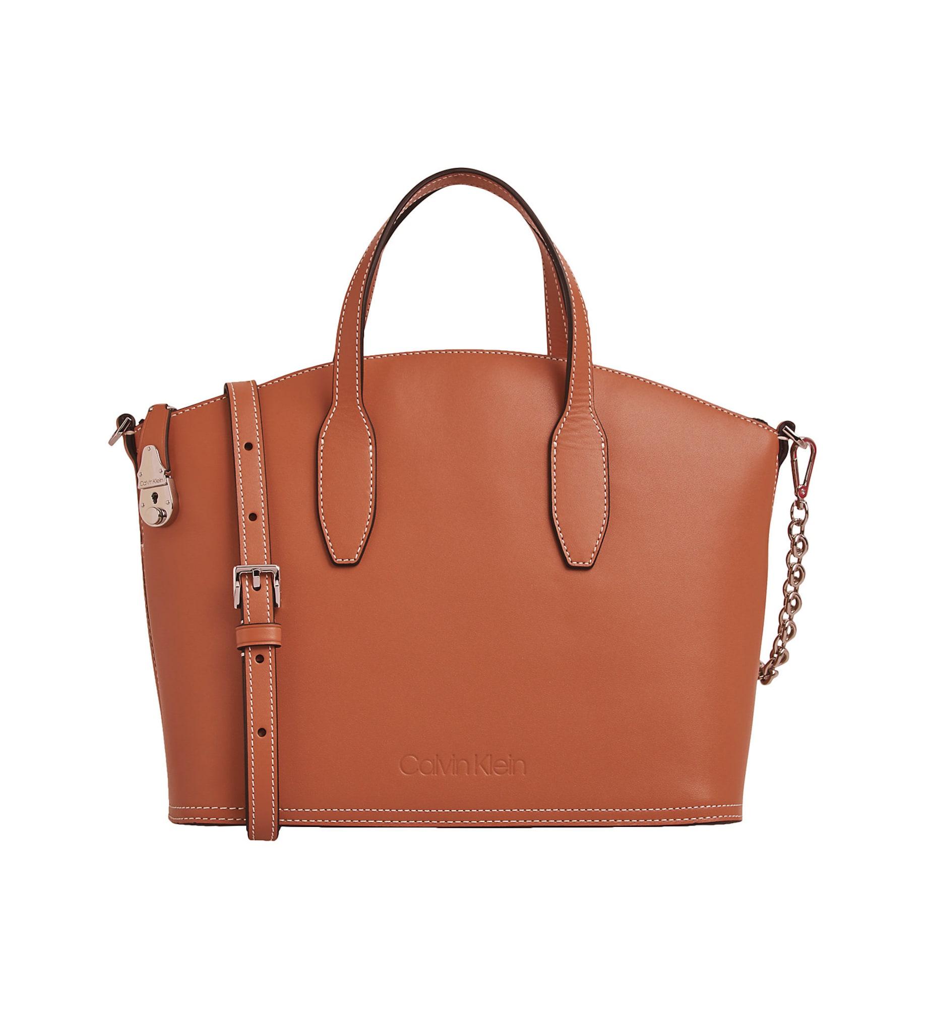 Calvin Klein Pirkinių krepšys ruda (konjako)
