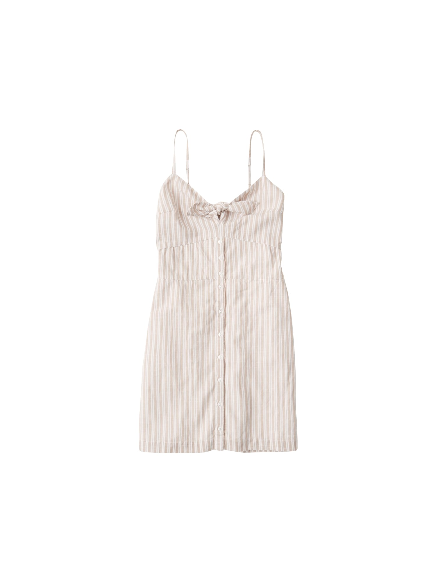 Abercrombie & Fitch Suknelė balta / smėlio