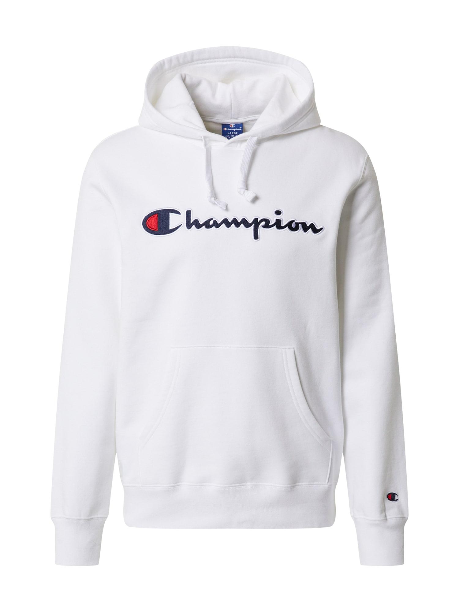 Champion Authentic Athletic Apparel Megztinis be užsegimo balta / tamsiai mėlyna