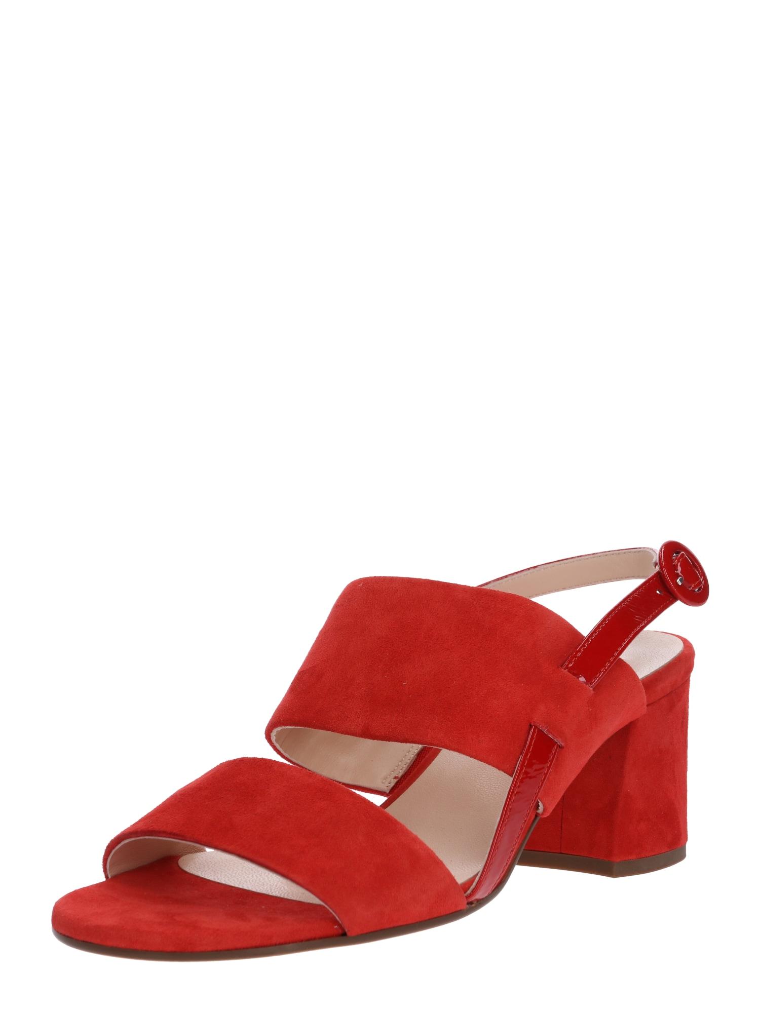 Páskové sandály červená Högl