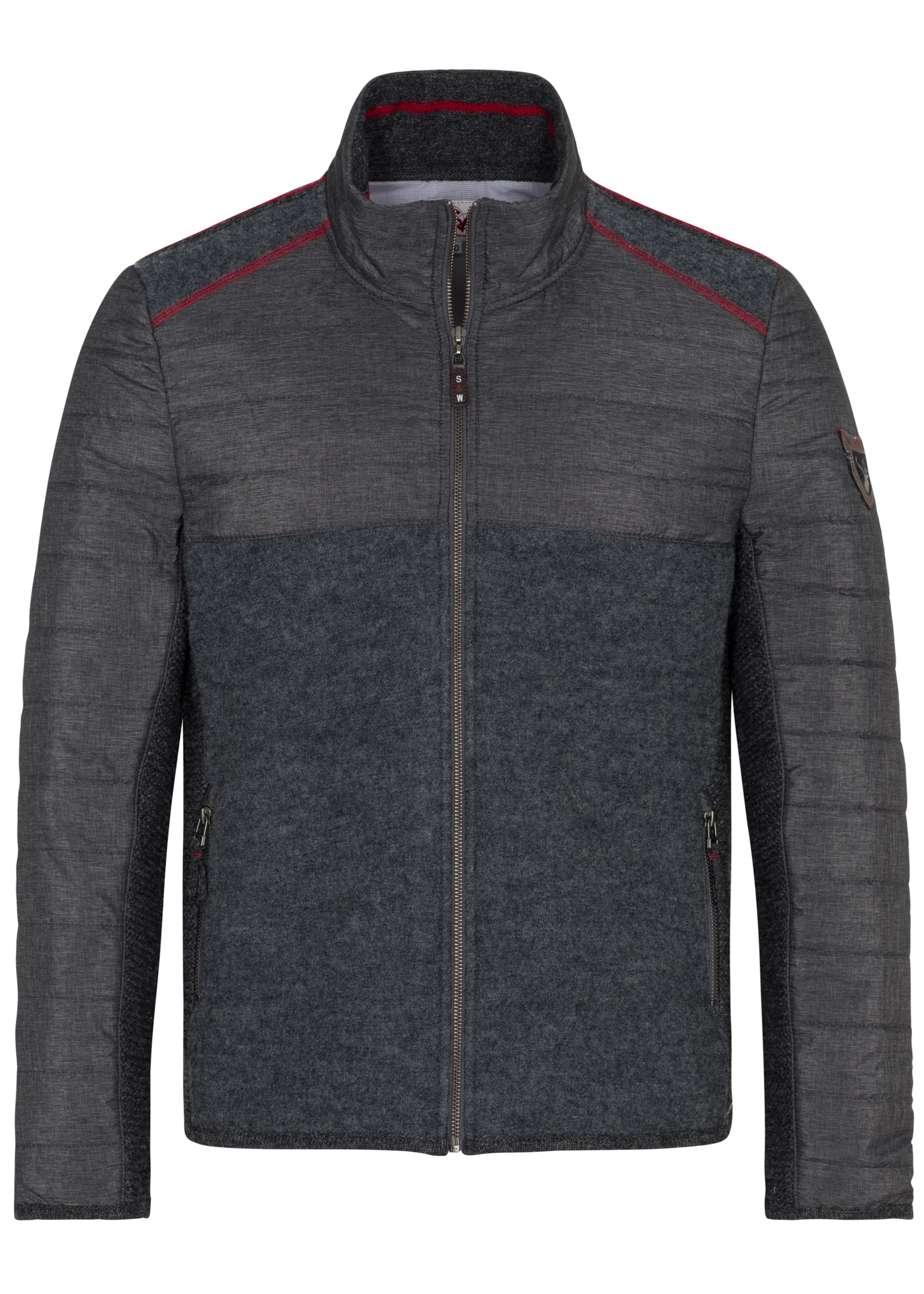 Herren SPIETH & WENSKY Jacke mit Reißverschluss grau | 04059829759299