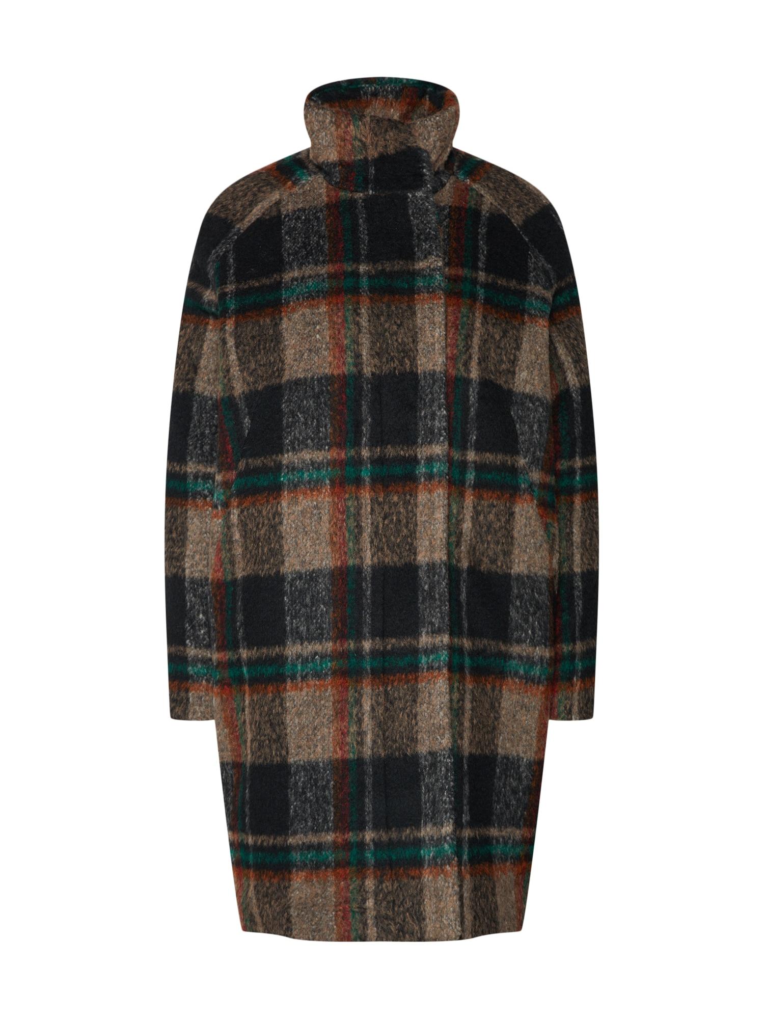Zimní kabát Hoff jacket 10616 hnědá jedle černá Samsoe & Samsoe