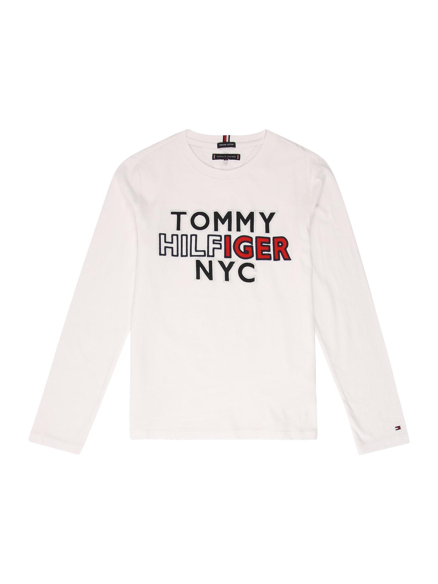 TOMMY HILFIGER Tričko  červená / bílá / marine modrá