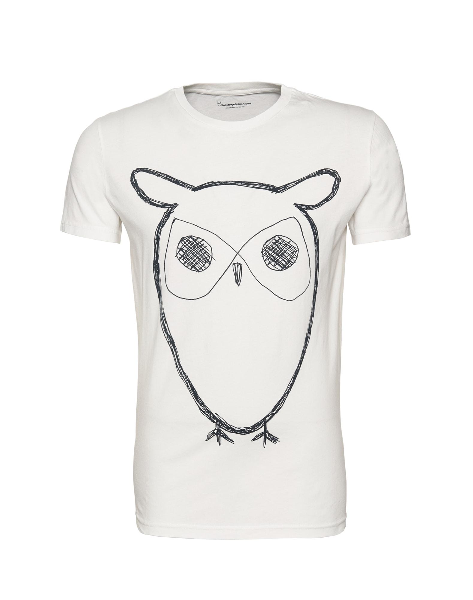 KnowledgeCotton Apparel Marškinėliai balta