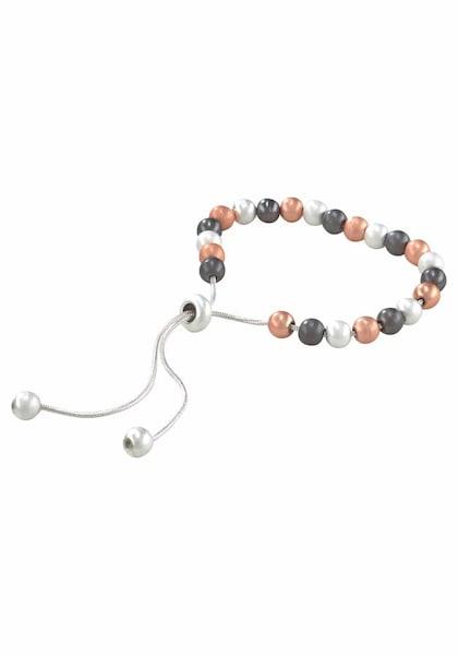 Armbaender für Frauen - J. Jayz Armband anthrazit apricot silber weiß  - Onlineshop ABOUT YOU