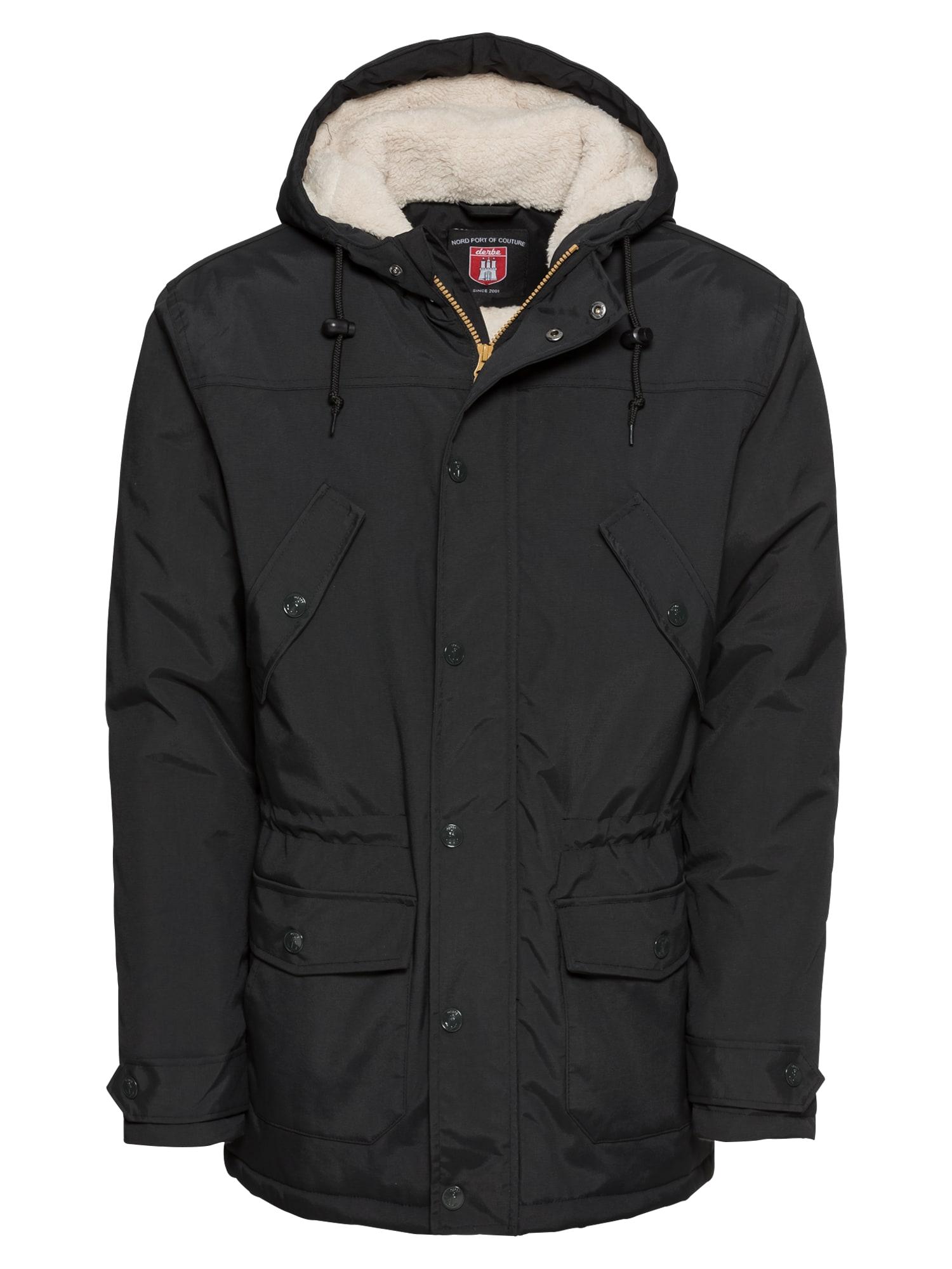 Derbe Ilga žieminė striukė 'Festland Parker' juoda