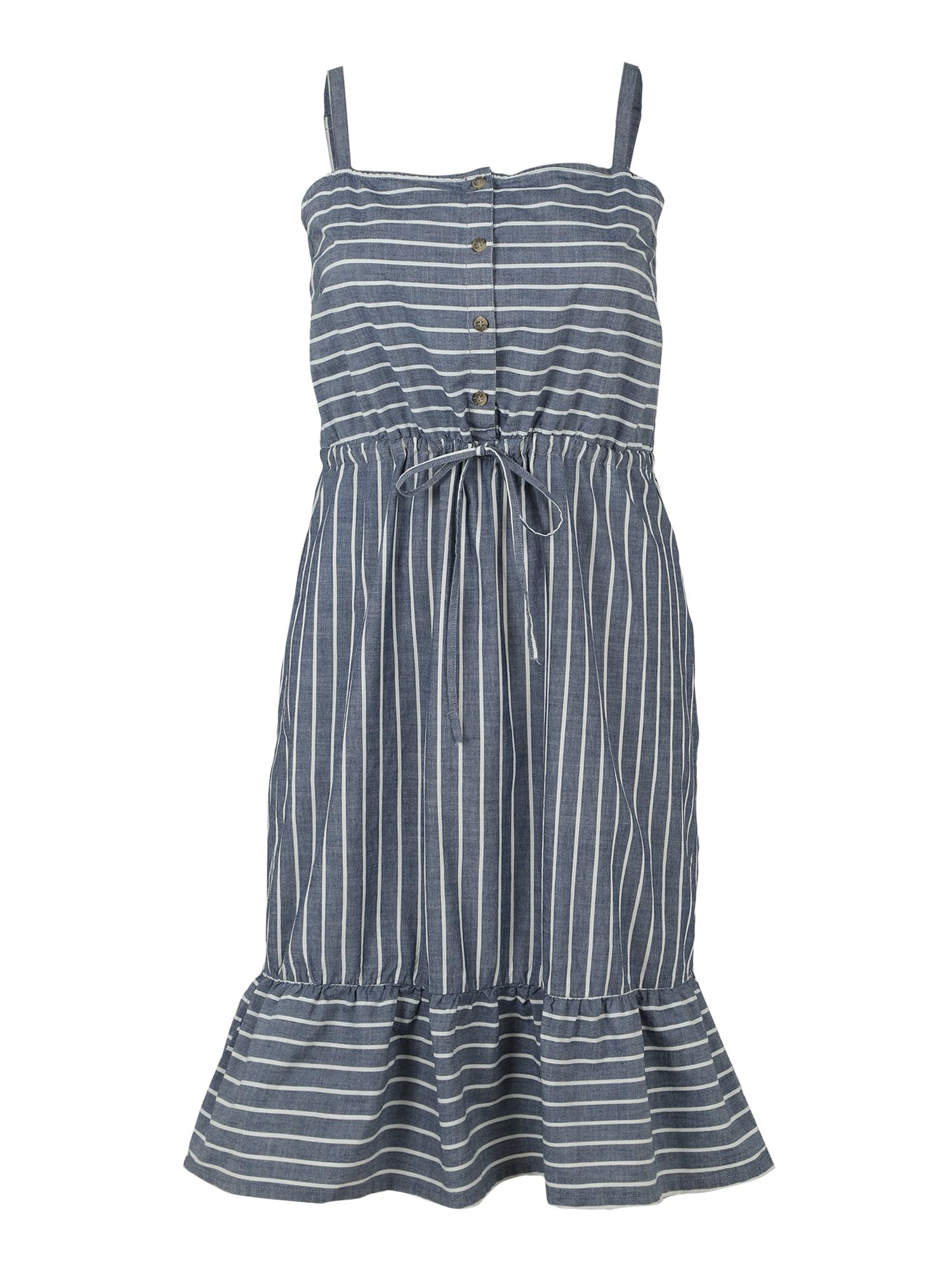 Vero Moda Curve Šaty 'VMCARY CHAMBRAY STRAP DRESS CURVE'  modrá džínovina