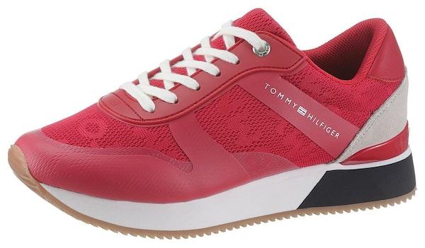 Sneakers für Frauen - TOMMY HILFIGER Plateausneaker 'Annie' beige rot  - Onlineshop ABOUT YOU