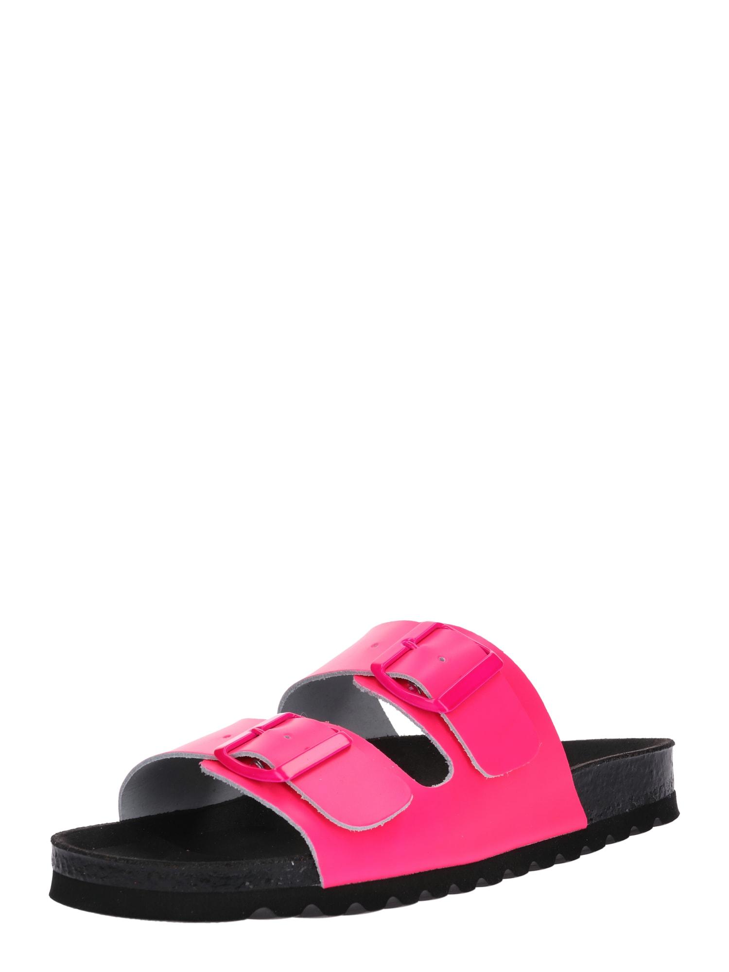 Sandály LUNA svítivě růžová černá VERO MODA