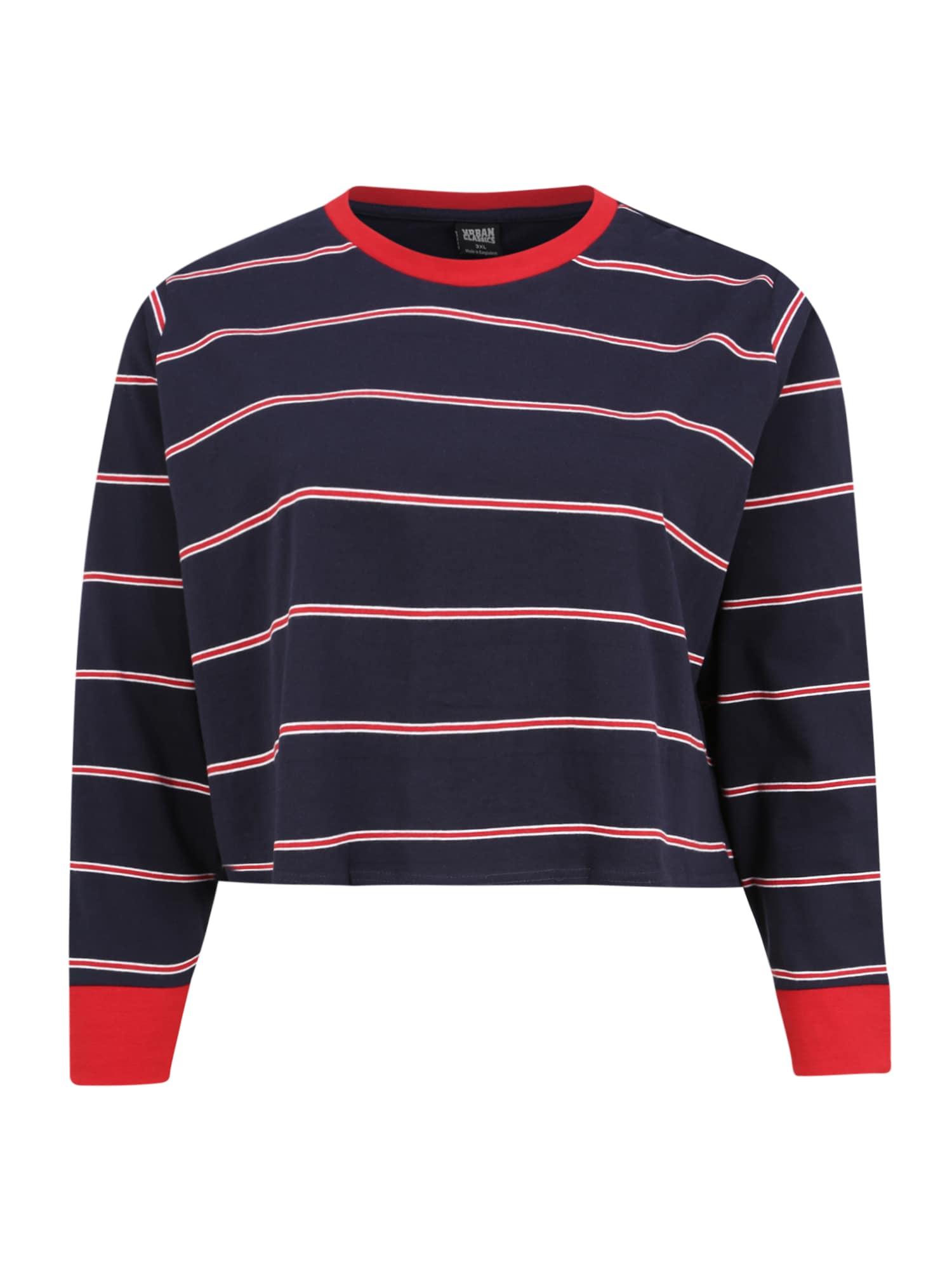 Urban Classics Curvy Marškinėliai raudona / tamsiai mėlyna