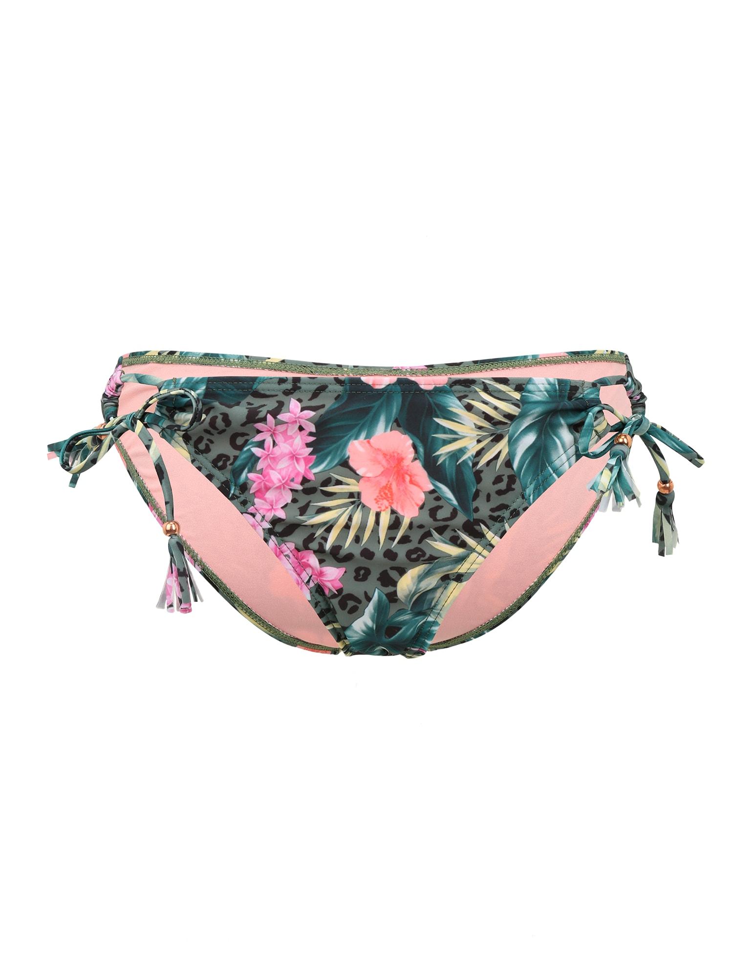 BRUNOTTI Sportinio bikinio kelnaitės 'Sophias' žalia / rožinė