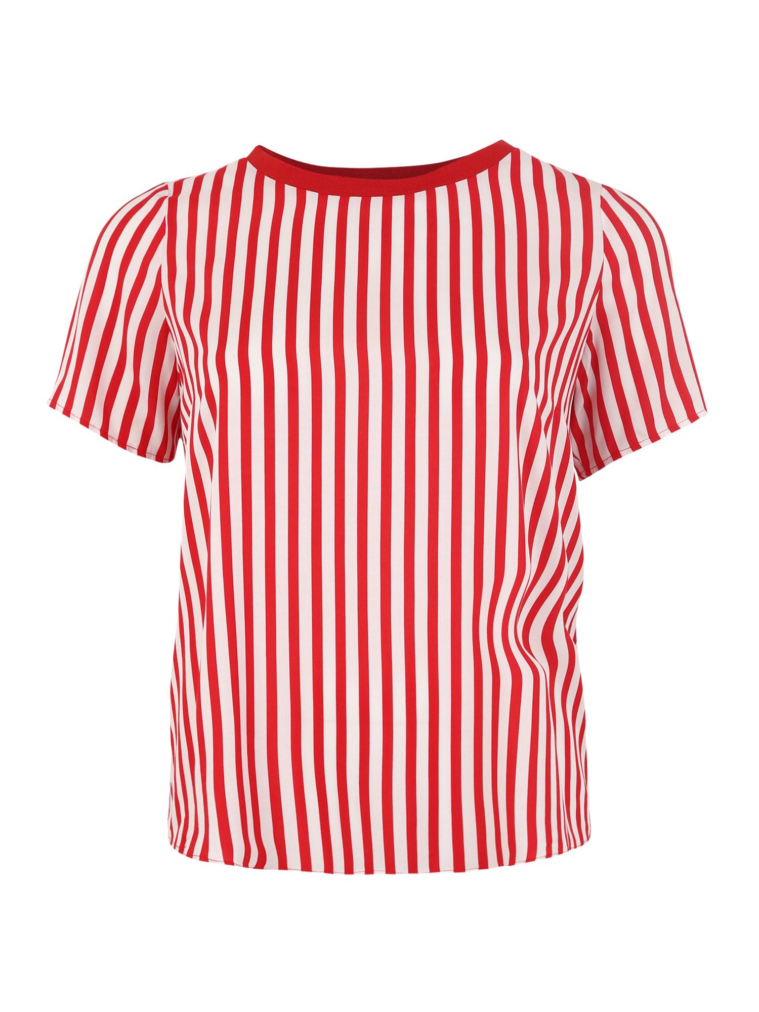Tričko LUNA červená bílá ONLY Carmakoma