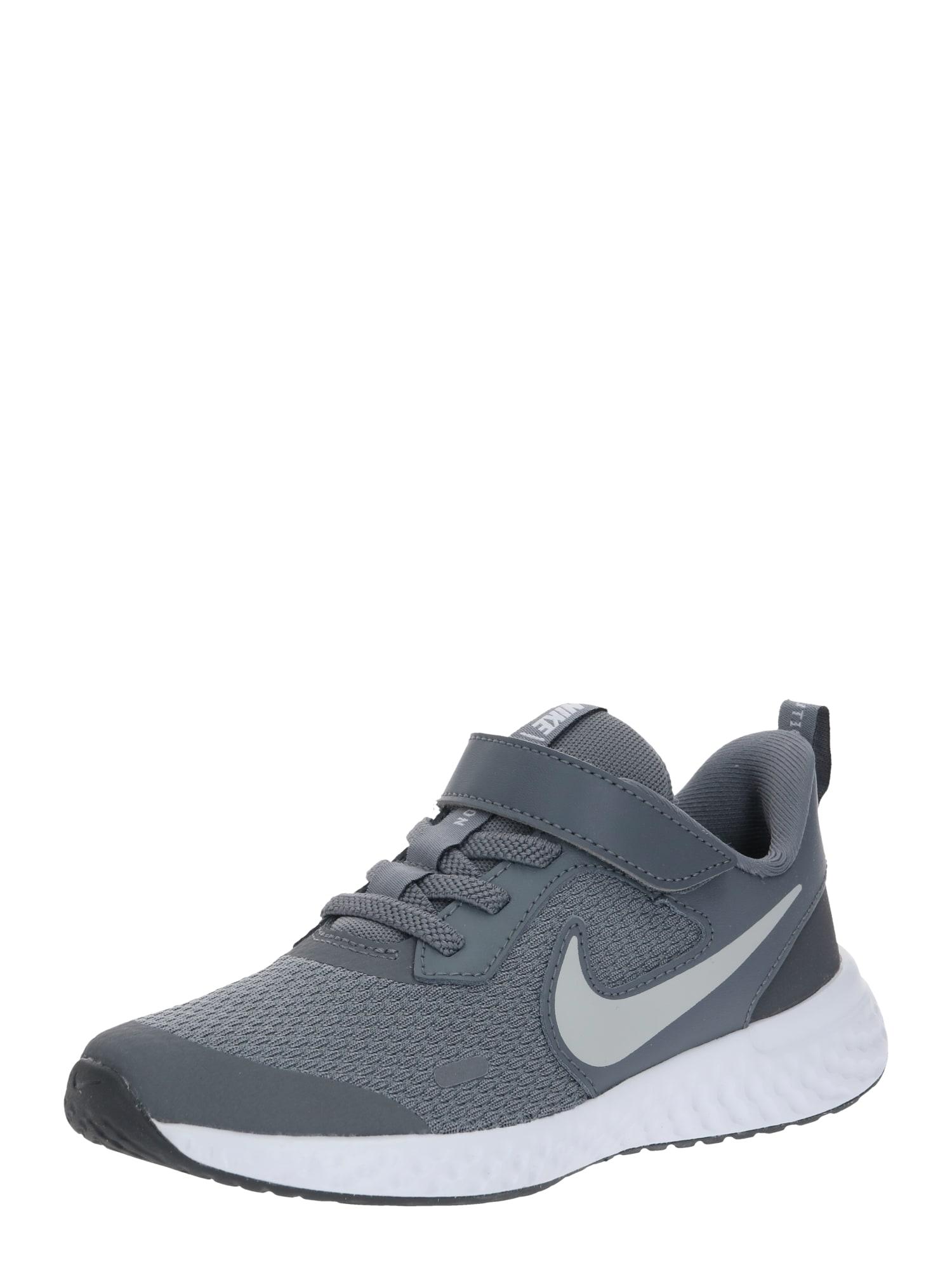Nike Sportswear Športová obuv 'NIKE REVOLUTION 5 (PSV)'  sivá / tmavosivá