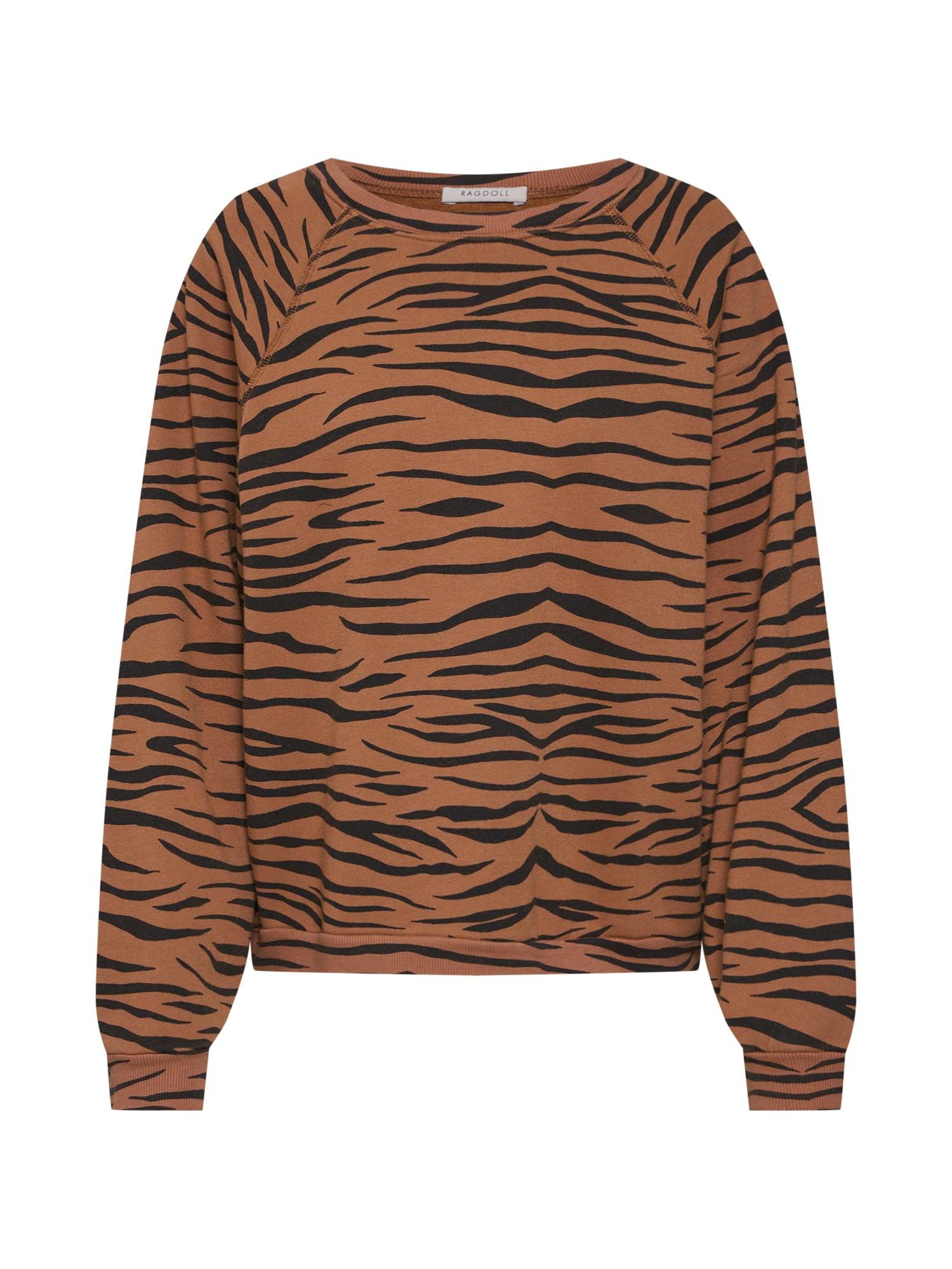 Mikina Oversized Sweatshirt hnědá Ragdoll LA