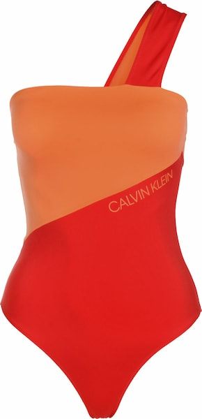 Bademode - Badeanzug ' One Shoulder W ' › Calvin Klein Underwear › rot orange  - Onlineshop ABOUT YOU